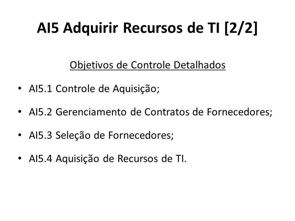 AI5 Adquirir Recursos de TI [2/2]